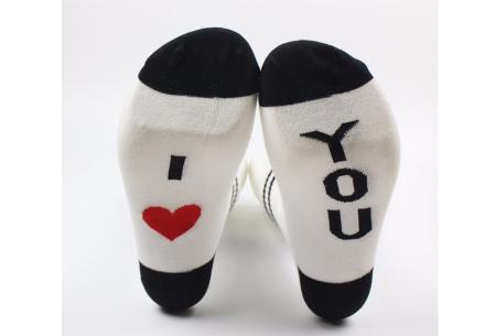 Dames sokken met tekst | Verras je partner met een originele boodschap!  #Love you