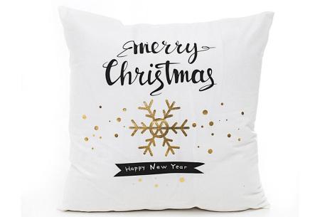 Kerst kussenhoes | Breng direct de gezellige kerstsfeer in huis!  F