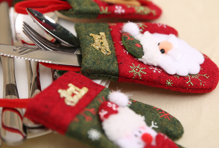 Kerst bestekhouders | Maakt jouw mooi gedekte tafel helemaal compleet!