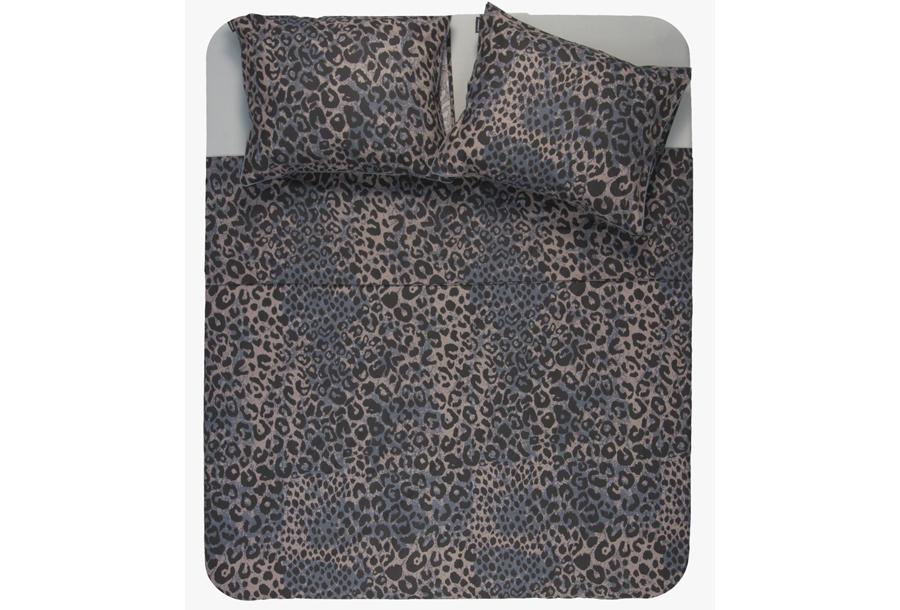 Exotische dekbedovertrekken Maat 200 x 200/220 cm - Luipaard donker