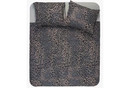 Exotische dekbedovertrekken | Droom heerlijk weg onder deze trendy overtrekken! Luipaard - donker