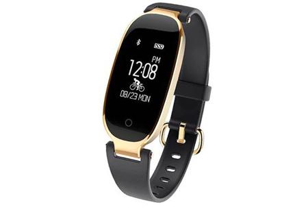 Dames smartwatch | Blijf altijd up-to-date met dit luxe horloge! Zwart - goudkleurig