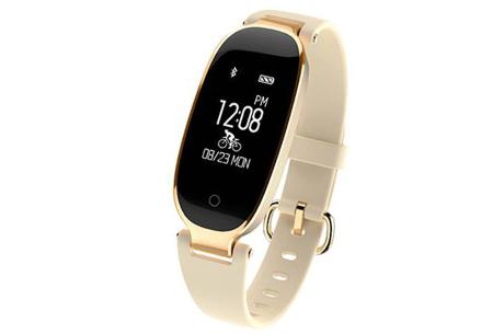Dames smartwatch | Blijf altijd up-to-date met dit luxe horloge! Goudkleurig