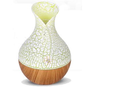 Design Aroma luchtbevochtiger | Geurverspreider en mood lamp in één #5 - Lichtbruin-Wit