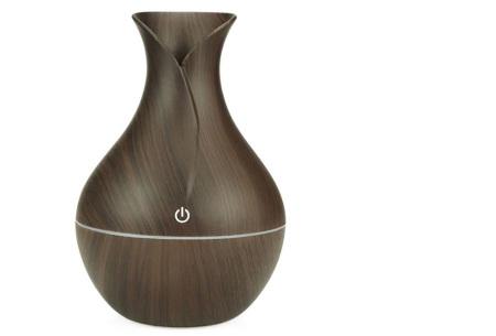 Design Aroma luchtbevochtiger | Geurverspreider en mood lamp in één #1 Donkerbruin