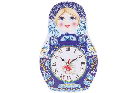 Diamond painting kinderklokken | Maak zelf de allermooiste klokken voor in de kinderkamer! Matroesjka
