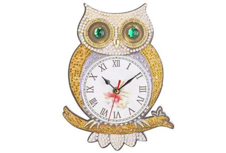 Diamond painting kinderklokken | Maak zelf de allermooiste klokken voor in de kinderkamer! Uil