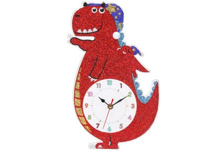 Diamond painting kinderklokken | Maak zelf de allermooiste klokken voor in de kinderkamer! Dino #1