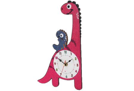 Diamond painting kinderklokken | Maak zelf de allermooiste klokken voor in de kinderkamer! Dino #2