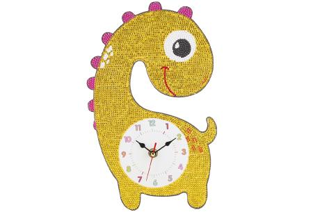 Diamond painting kinderklokken | Maak zelf de allermooiste klokken voor in de kinderkamer! Dino #3