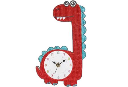 Diamond painting kinderklokken | Maak zelf de allermooiste klokken voor in de kinderkamer! Dino #4
