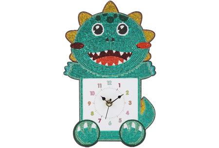 Diamond painting kinderklokken | Maak zelf de allermooiste klokken voor in de kinderkamer! Dino #5