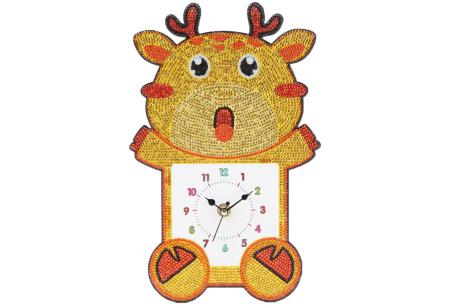 Diamond painting kinderklokken | Maak zelf de allermooiste klokken voor in de kinderkamer! Hert