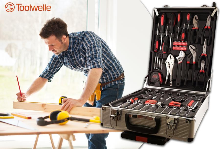 Gereedschapskoffer van Toolwelle in de sale