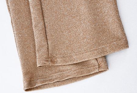 Glitter flared broek   Het perfecte kledingstuk voor de feestdagen! - Keuze uit 2 kleuren
