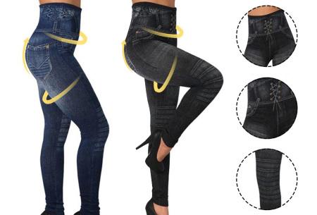 High waist jeans legging   De looks van een jeans en het comfort van een legging!