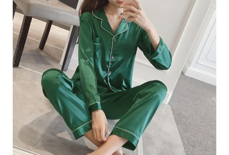 Satin look pyjama | Luxe pyjama voor dames in maar liefst 7 kleuren  groen