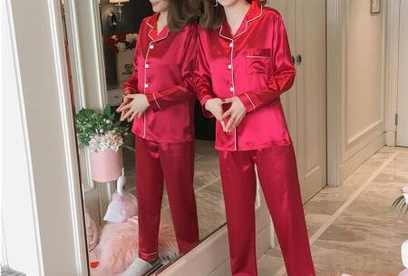 Satin look pyjama | Luxe pyjama voor dames in maar liefst 7 kleuren  rood