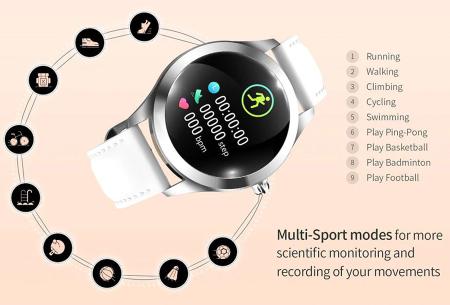 Luxe smartwatch voor vrouwen | Stijlvolle accessoire met mesh of PU lederen band