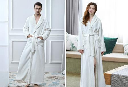 Badjas   Heerlijk zacht en comfortabel - Voor hem en haar - Kies uit 6 kleuren!  Wit