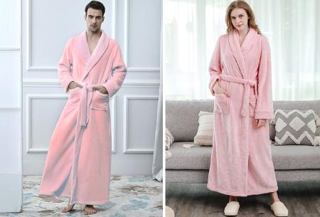 Badjas   Heerlijk zacht en comfortabel - Voor hem en haar - Kies uit 6 kleuren!  Roze