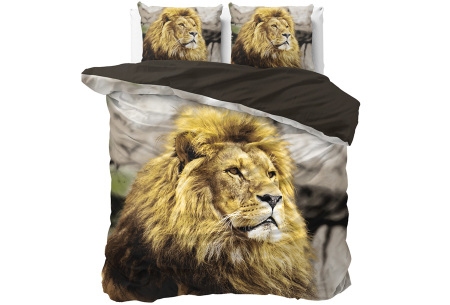 Wildlife dekbedovertrekken van Dreamhouse | Droom weg onder kwaliteit! lion mind