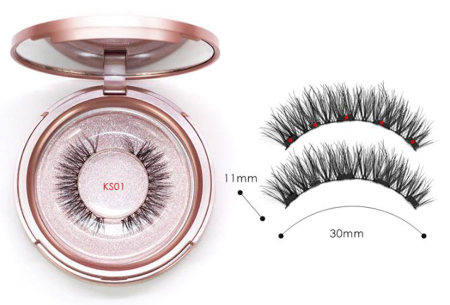 Magnetische nepwimpers met eyeliner | Creëer een verleidelijke oogopslag binnen enkele minuten!