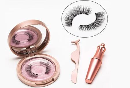 Magnetische nepwimpers met eyeliner | Creëer een verleidelijke oogopslag binnen enkele minuten! KS01-5
