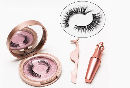 Magnetische nepwimpers met eyeliner | Creëer een verleidelijke oogopslag binnen enkele minuten! AD811