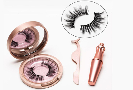 Magnetische nepwimpers met eyeliner | Creëer een verleidelijke oogopslag binnen enkele minuten! Miami