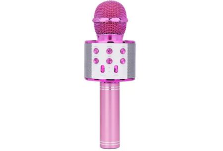 Karaoke microfoon | Draadloos & geschikt voor heel veel zangplezier  Roze