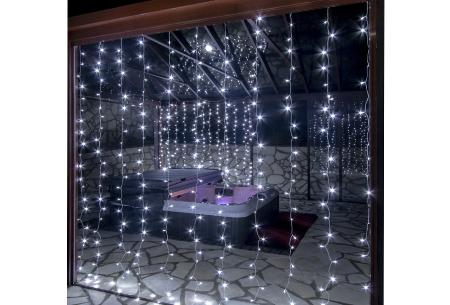 LED lichtgordijn met 300 lampjes incl. afstandsbediening | Sfeervolle verlichting, perfect voor de feestdagen! Wit