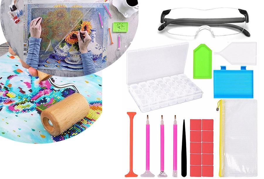 Diamond painting accessoires | compleet pakket