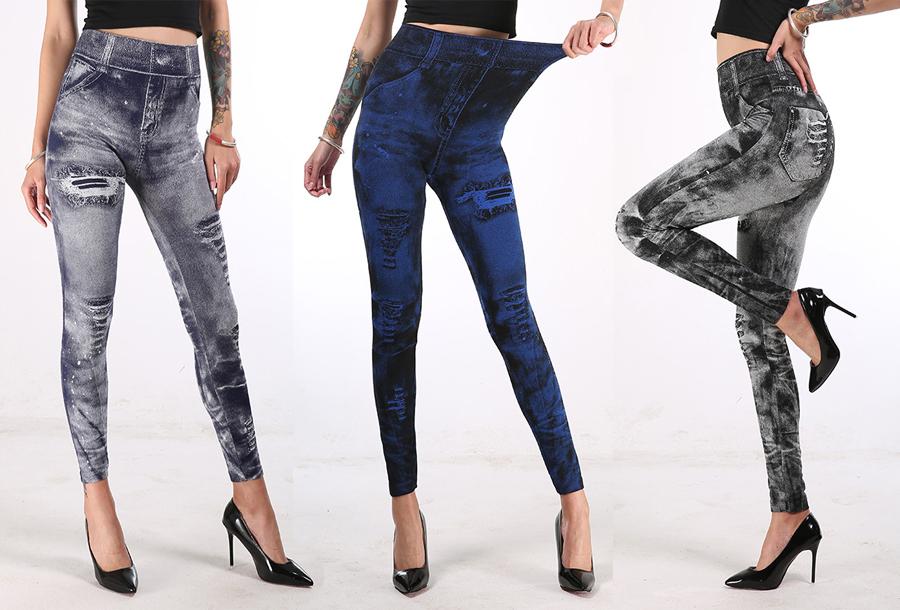 77% korting - Jeans legging met wassing