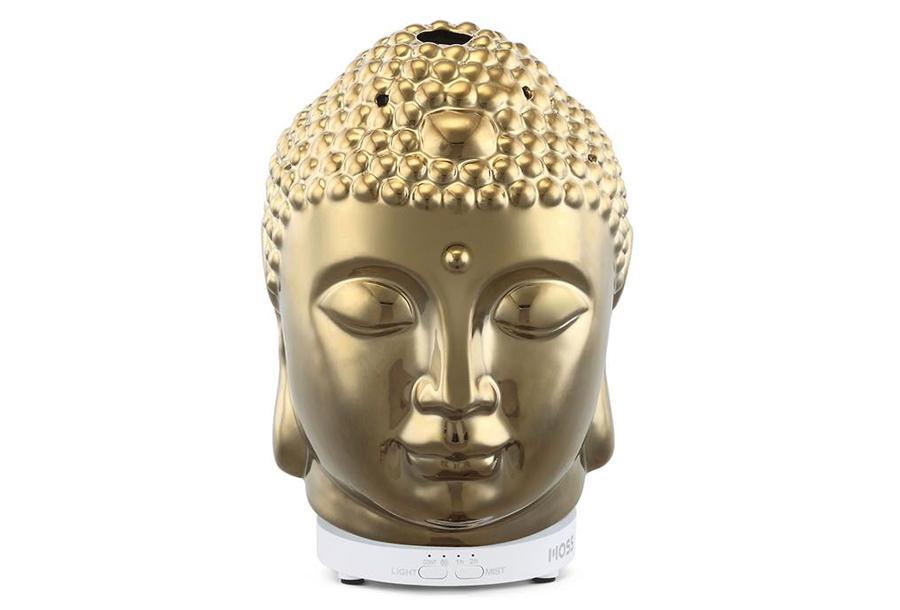 Sfeervolle luchtbevochtigers Boeddha goudkleurig