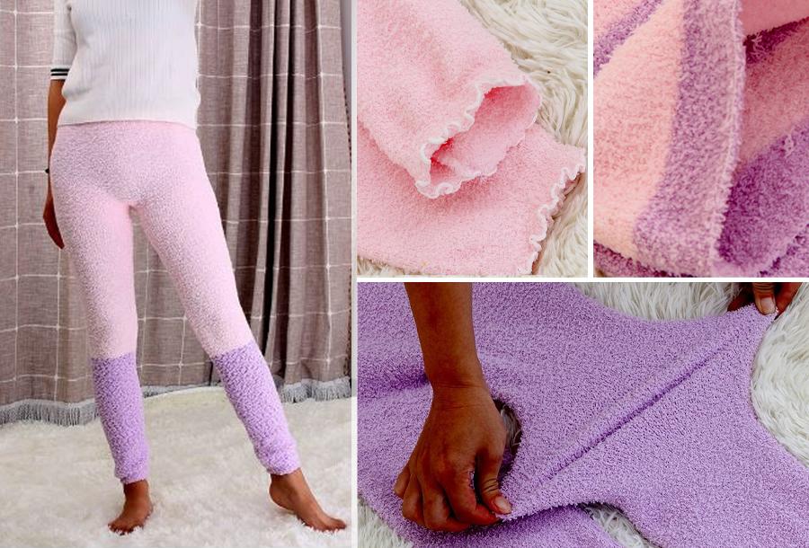 60% korting - Comfy fleece legging