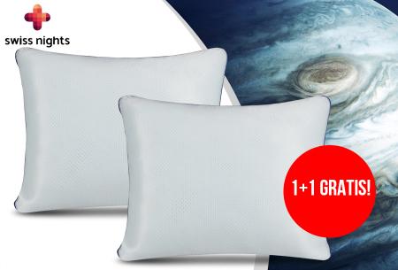 NASA traagschuim hoofdkussens van Swiss Nights | Voor een perfecte nachtrust - 1+1 GRATIS!