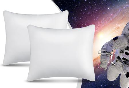 NASA traagschuim hoofdkussens van Swiss Nights | Voor een perfecte nachtrust - 1+1 GRATIS! Traagschuim kussen