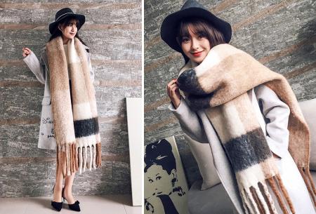 Fluffy sjaal | Heerlijk warme en lange overslagsjaal #3