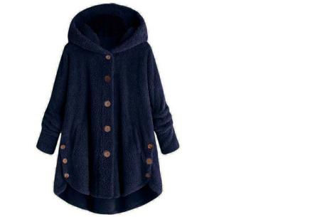 Fleece vest voor dames met capuchon | Heerlijk warm en comfortabel kledingstuk tijdens de koude dagen navy