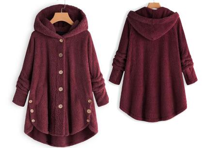 Fleece vest voor dames met capuchon | Heerlijk warm en comfortabel kledingstuk tijdens de koude dagen wijnrood