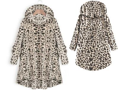 Fleece vest voor dames met capuchon | Heerlijk warm en comfortabel kledingstuk tijdens de koude dagen Luipaard Licht
