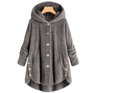 Fleece vest voor dames met capuchon | Heerlijk warm en comfortabel kledingstuk tijdens de koude dagen Donkergrijs