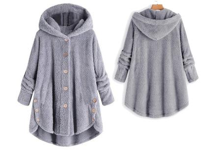Fleece vest voor dames met capuchon | Heerlijk warm en comfortabel kledingstuk tijdens de koude dagen Lichtgrijs
