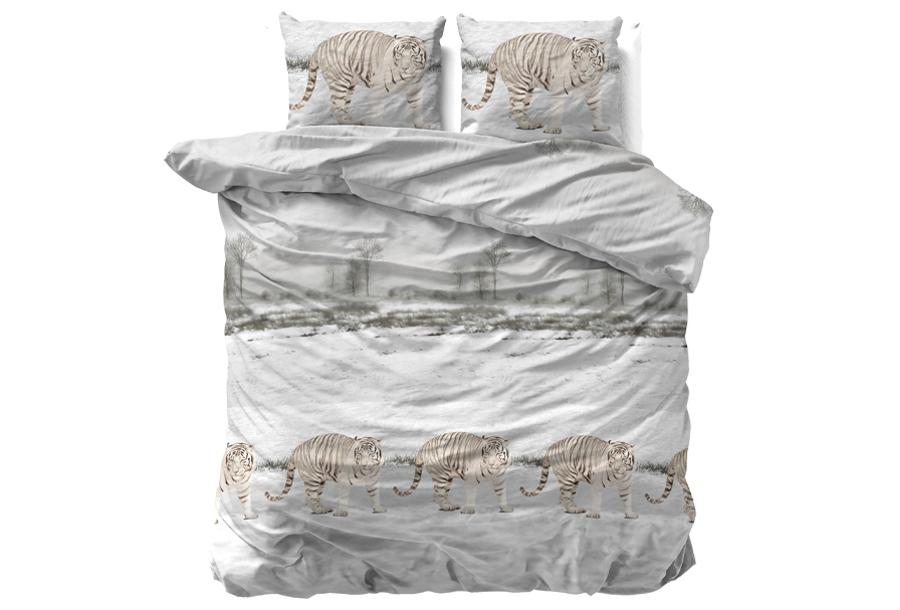Flanellen dekbedovertrekken Nature Maat 240 x 220 cm - Winter Tiger