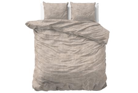 Flanellen dekbedovertrekken Nature | Super warme overtrekken in 6 leuke prints Washed Cotton - Taupe