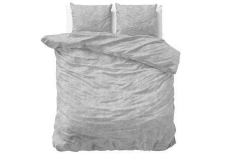 Flanellen dekbedovertrekken Nature | Super warme overtrekken in 6 leuke prints Washed Cotton - Grey