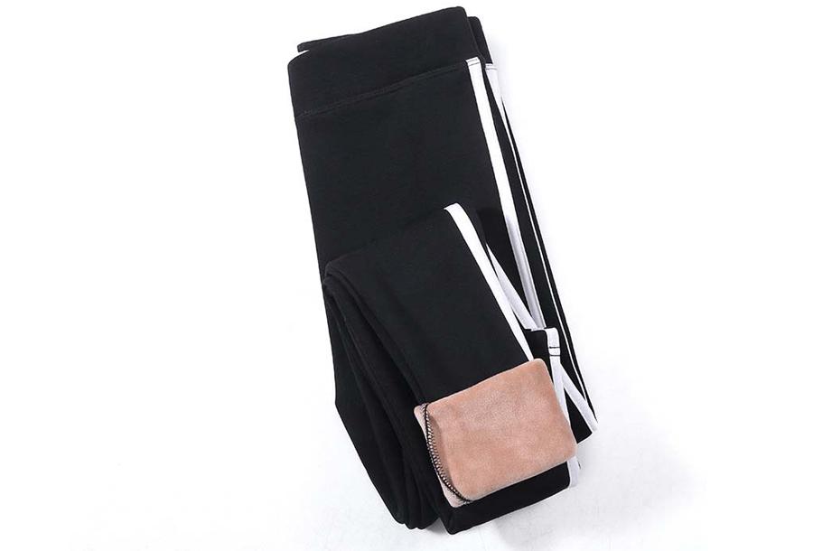 Gevoerde fleece legging - Maat S/M - Zwart #1
