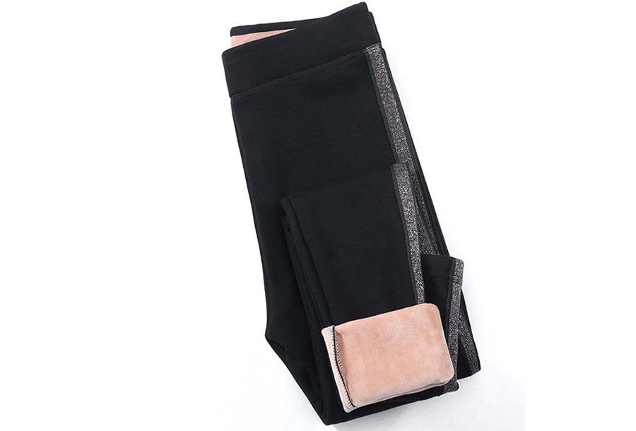 Gevoerde fleece legging - Maat S/M - Zwart #2