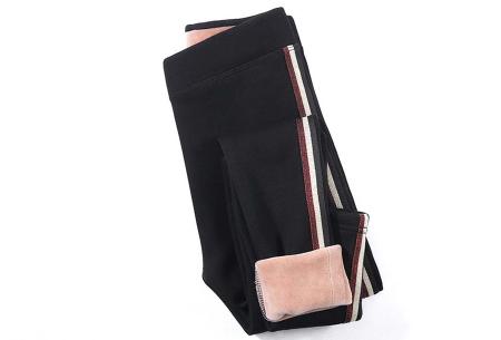 Gevoerde fleece legging | De perfecte broek voor in de winter!  Zwart #3